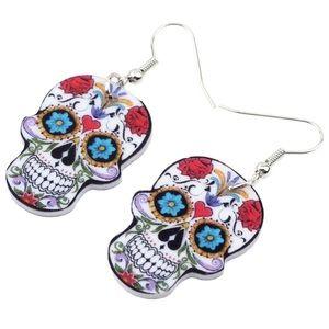 BOGO! Sugar Skull Dia De Los Muertos Earrings